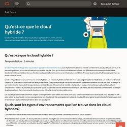 Qu'est-ce que le Cloud Hybride - Définition du cloud hybride