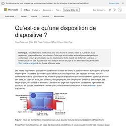 Qu'est-ce qu'une disposition de diapositive? - PowerPoint