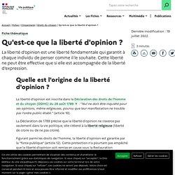 Qu'est-ce que la liberté d'opinion ?