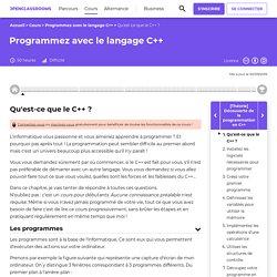 Qu'est-ce que le C++ ? - Programmez avec le langage C++