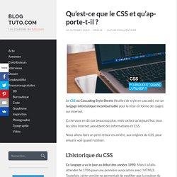 Qu'est-ce que le CSS et qu'apporte-t-il?