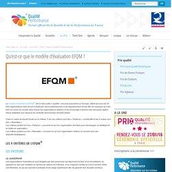 Qu'est-ce que le modèle d'évaluation EFQM ?