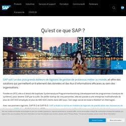 Que fait SAP?- SAP France News
