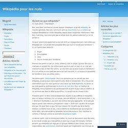 Wikipédia pour les nuls