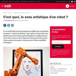 C'est quoi, le sens artistique d'un robot ?