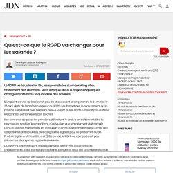 Qu'est-ce que le RGPD va changer pour les salariés