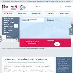 Qu'est-ce qu'une opération programmée ?