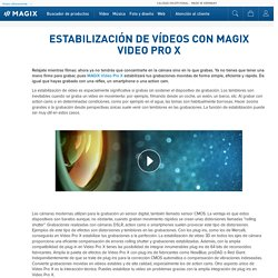 Estabilización de vídeo de alta calidad con MAGIX Video Pro X