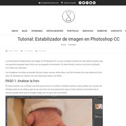 Estabilizador de imagen en Photoshop CC - Tutorial