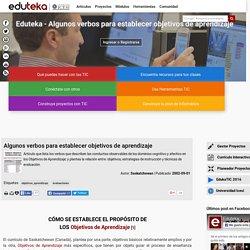 Diseño de objetivos: VERBOS para establecer objetivos de aprendizaje