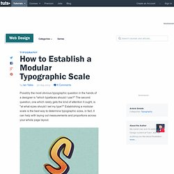 How to Establish a Modular Typographic Scale