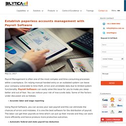 Establish paperless accounts management with Payroll Software