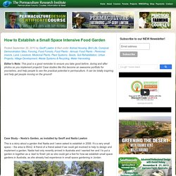 How to Establish a Small Space Intensive Food Garden Permaculture Research Institute