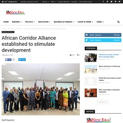 African Corridor Alliance established to stimulate development