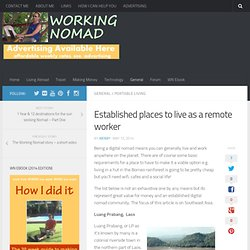 Established places to live as a remote worker - Working Nomad