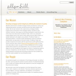 Allonhill | Allonhill has established a reputation as the industry leader in mortgage services.