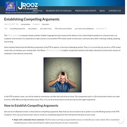 PTE review: Establishing Arguments - PTE Academic