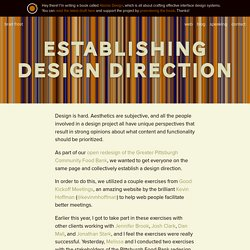 Establishing Design Direction