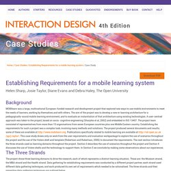 Case Study: Establishing Requirements for a mobile learning system