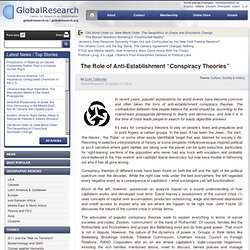 """The Role of Anti-Establishment """"Conspiracy Theories"""""""