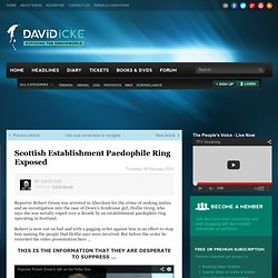 Scottish Establishment Paedophile Ring Exposed
