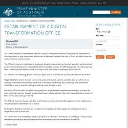 Establishment of a Digital Transformation Office