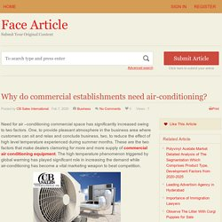 Why do commercial establishments need air-conditioning? - Face Article