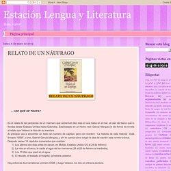 Estación Lengua y Literatura: RELATO DE UN NÁUFRAGO