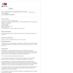 Comunidad de Madrid - D. G. de Economía, Estadística e Innovación Tecnológica