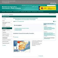 Estadísticas de Incendios Forestales - Estadísticas - Desarrollo Rural