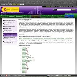 Portal Estadístico del SNS - Sistema de Información Sanitaria: Portal Estadístico del SNS - Información y Estadísticas de las Comunidades Autónomas