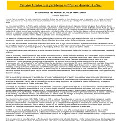 Estados Unidos y el problema militar en América Latina