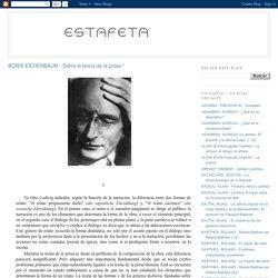 BORIS EICHENBAUM - Sobre la teoría de la prosa *