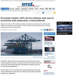 Encuesta Cadem: 84% de los chilenos cree que la economía está estancada o retrocediendo