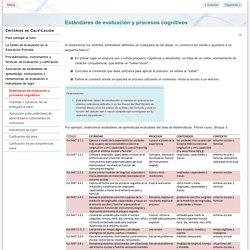 Estándares de evaluación y procesos cognitivos