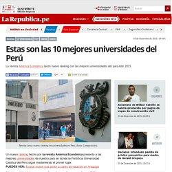 Estas son las 10 mejores universidades del Perú
