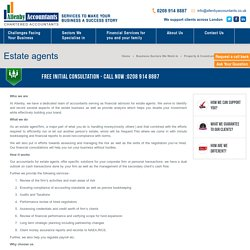 Accountants for Estate Agents by Allenby Accountants