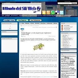 Estate Blogger un sito al giorno per migliorare il proprio blog