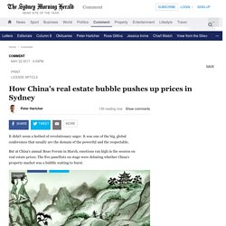 How China's real estate bubble pushes up prices in Sydney