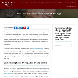 How Does Your Estate Plan Change As You Age? - ElderCareMatters.com