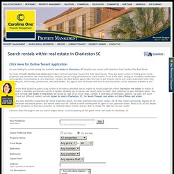 Real Estate in Charleston SC Rentals Search