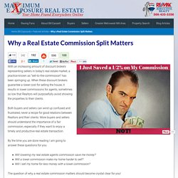 Why a Real Estate Commission Split Matters