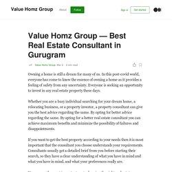Value Homz Group — Best Real Estate Consultant in Gurugram