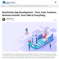Time and cost to develop app like Zillow
