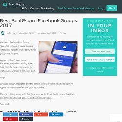 Best Real Estate Facebook Groups For Real Estate Agents