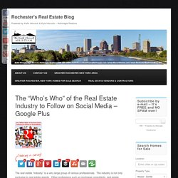 Top 25 Real Estate Professionals To Follow on Google Plus