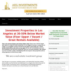 Real Estate Investments Group & Trust Los Angeles, CA