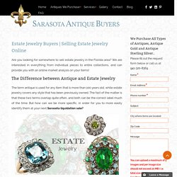Where to sell estate jewelry