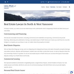 Real Estate Lawyer In North Vancouver BC