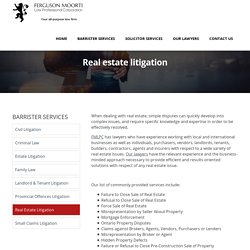 Real Estate Lawyer Ottawa, Carleton Place - FMLPC